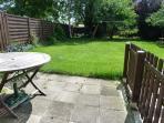 Sunny terrace and back garden