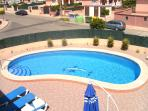 the pool from the sun terrace