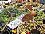 local olives and produce are plentiful at the markets or at our local shops