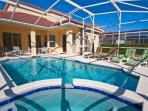Pool and Lanai with outside dining - secluded, south facing and includes 6 loungers.