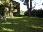 The side of the villa/studio