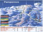 Pamporovo piste map showing No4 ski lift (top right corner).
