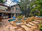 Backyard includes Heated Pool and Spa