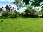Level back garden