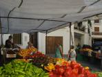 Vegetable market in Capileira
