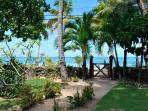 garden and beach