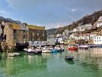 The stunning inner harbour at Polperro, see a different colour in the water every day!