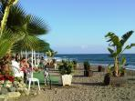 Beach Cafe and bar, ideal for sundowners,enjoy a late lunch or snack with a drink