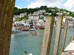 Looe harbour in June