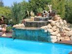 Waterfall into the pool (Kids love it :)