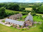 The cottages at Holt Farm lie in rolling hill country on the borders of Herefordshire and Wales