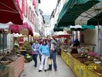 The Sunday market in nearby St Antonin