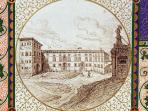 Eighteenth Century: view of main building of castle and church