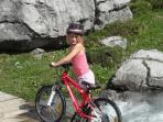 Summer Rental with Mountain Biking Routes for the whole Family