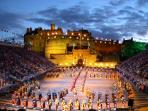 Edinburgh Military Tattoo...a two minute walk away
