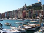 Ferry boats leave from the delightful town of Portovenere for the Cinque Terre and Portofino.