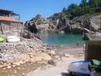view of rustic fish restaurant at Cala Deia