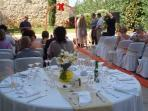 We can organize your wedding reception at the villa