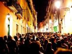 Bairro Alto at night is amazing and unique! Stay on the balcony or join the party downstairs!