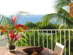 terrasse avec vue sur la mer de la location COTE MER de la villa CHANTEVENT