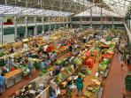 Mercado da Ribeira founded in 1882. You will find fresh fruits & vegetables, fresh fish, seafood