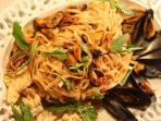 Un nostro piatto : tagliatelle con frutti di mare