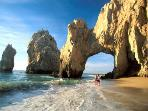 World famous Cabo San Lucas Arch landmark just a short drive away