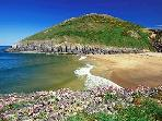 Mwnt Beach is 5 miles from the cottage.  A beautiful National Trust beach.  Why not climb to the top
