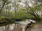 Come relax with the sound of the creek flowing by