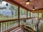 Enjoy the awesome mountain views while dining with your family.