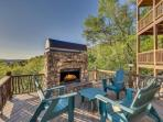 Outdoor Gas Fireplace with a View