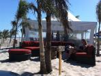 Seating area on beach