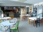 The newly built fully licenced cafe bar