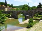 A lovely wiew of the roman bridge at the village
