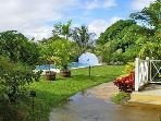 Tropical gardens with cool caribbean breeze