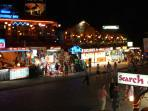 Hisaronu at night, lively clubs, bars and restaurants.