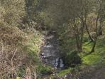 The Dyfatty stream - follow the footpath down to Burry Port