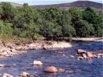 Burnbank Lodges on the banks of the River Spean