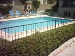 Pool area,bbq and gardens enclosed