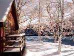 Burnbank in the snow