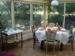Small meals in the veranda