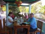 Guests at breakfast