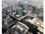 Areil view of Canary wharf