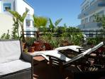 Relax and sunbath in the private garden terrace.