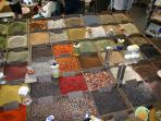 Smell the spices, olives and other local specialities