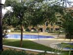 View of pool from private garden