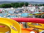 The best aquapark in Bulgaria Free bus stop service just outside the complex