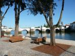 View of Tavira's 'Roman' bridge.