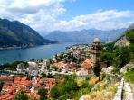 Climb Kotor's old city walls for this magnificent view