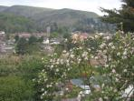 Garden view to Church Stretton.   From your window.  Guests are welcome to walk around all the land.
